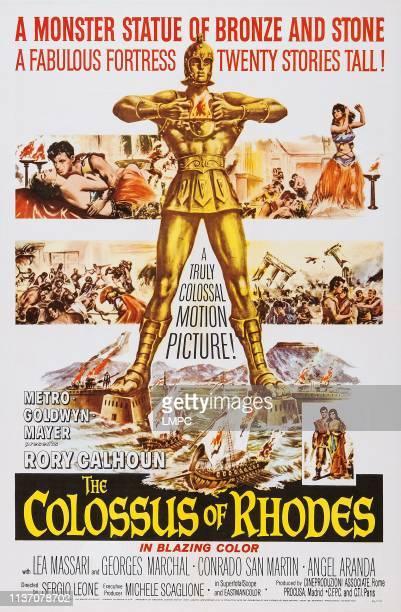 The Colossus Of Rhodes poster lr Lea Massari Rory Calhoun on poster art 1961