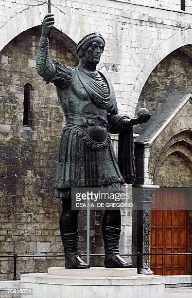 The Colossus or Heraclius gilded bronze statue Barletta Puglia Italy