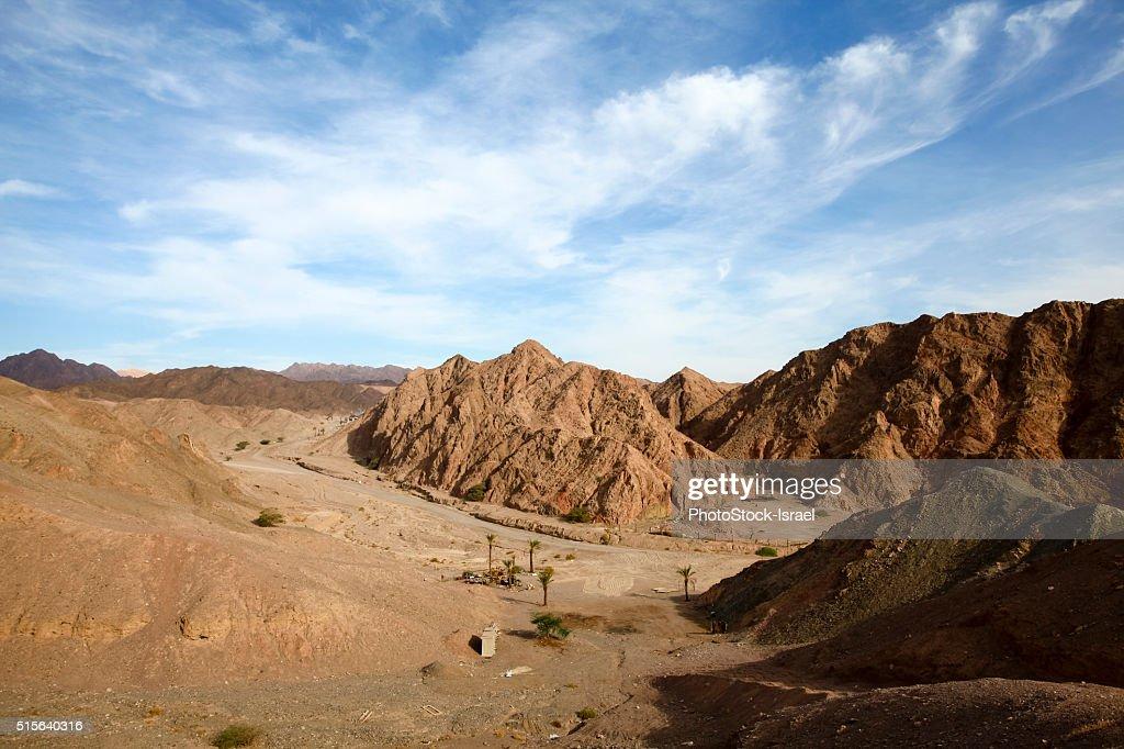 The colourful Eilat mountain range : Stock Photo