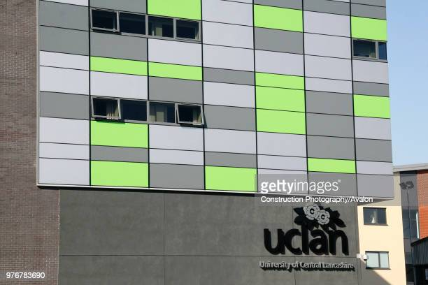 The colourful Media factory building at the University of Central Lancashire Preston The Universityês groundbreaking £15 million Media Factory was...