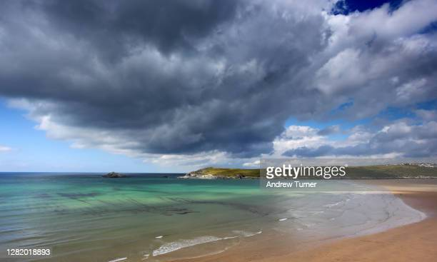 the colours of crantock - newquay stock pictures, royalty-free photos & images