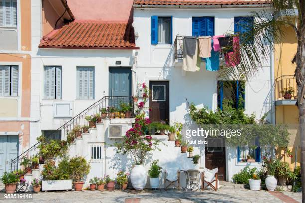 the colours of parga, greece, europe - epirus greece stock pictures, royalty-free photos & images