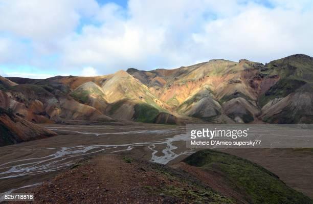 The colours of the rhiolitic rocks in Landmannalaugar