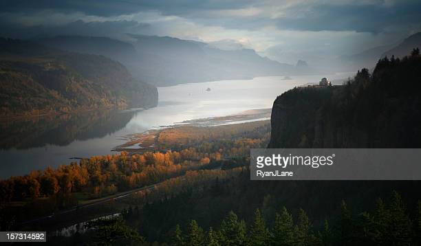 The Columbia Gorge River and Crown Point, Oregon State