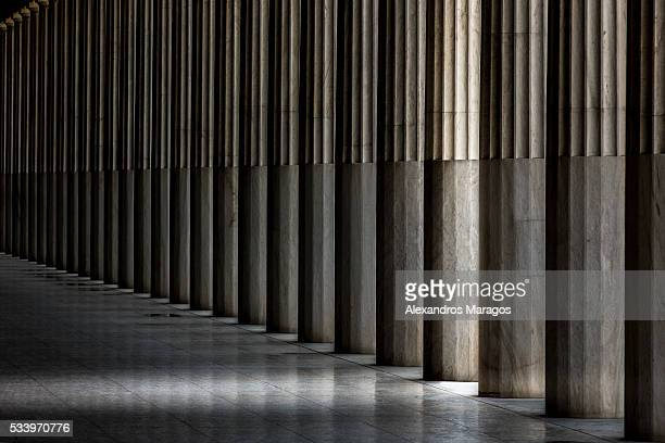 The Columns of the Stoa of Attalos in Athens, Greece