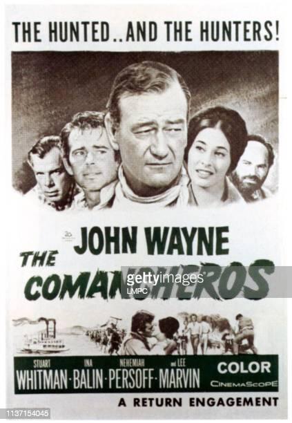 The Comancheros poster Lee Marvin Stuart Whitman John Wayne Ina Balin Nehmiah Persoff on 1960s