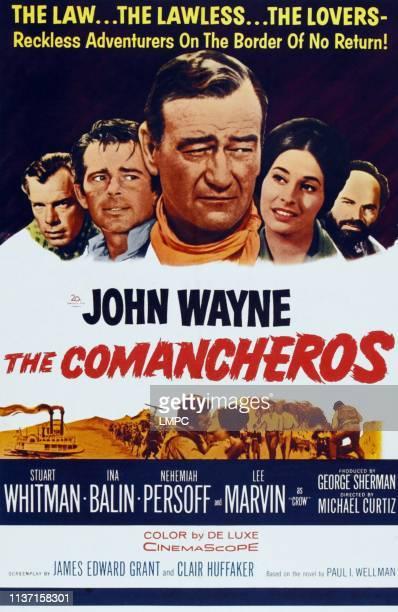 The Comancheros poster Lee Marvin Stuart Whitman John Wayne Ina Balin Nehmiah Persoff 1961