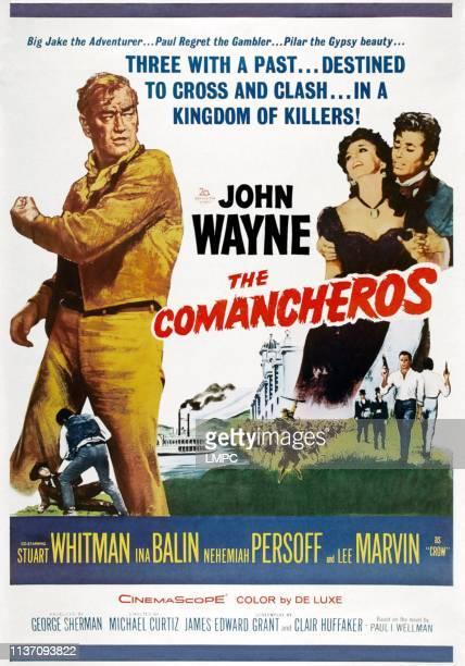John Wayne Ina Balin Stuart Whitman on poster art 1961
