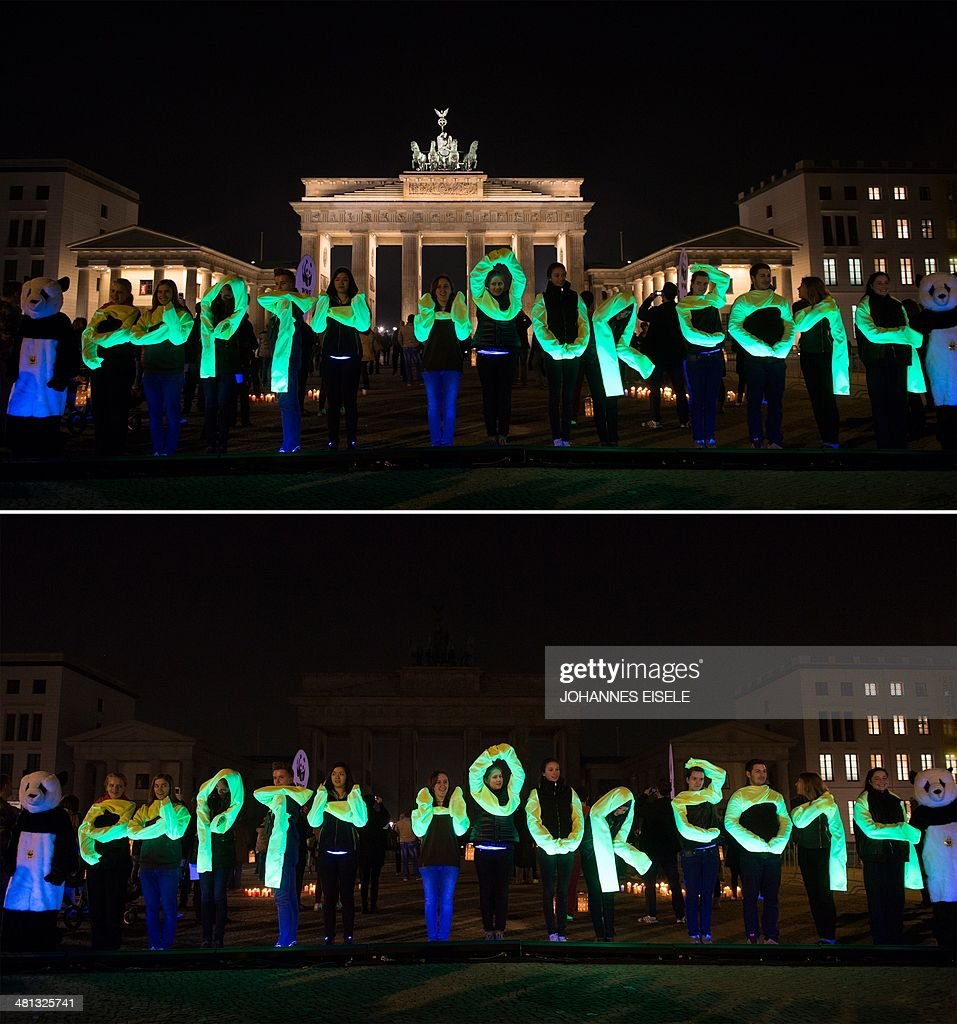 GERMANY-ENVIRONMENT-EARTHHOUR : News Photo