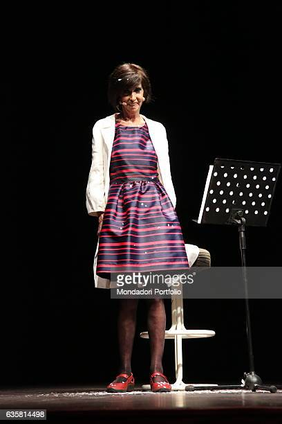 """The comedian Anna Marchesini performing the only date of her show """"Da Sola"""" at the San Domenico Theatre. Crema , 25th August 2013"""