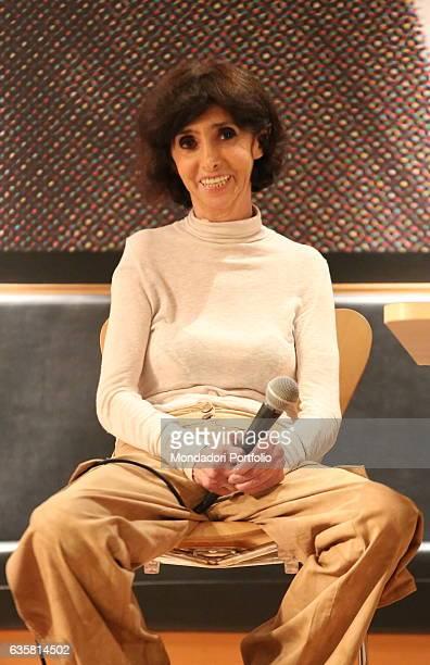"The comedian Anna Marchesini presenting her last book ""Moscerine"" at Feltrinelli bookshop. Milan , 4th November 2014"