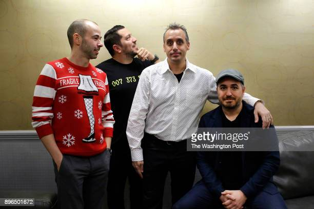 The comedians of Impractical Jokers James Murray Sal Vulcano Joseph Gatto and Brian Quinn pose for a portrait before performing at the Allstate Arena...