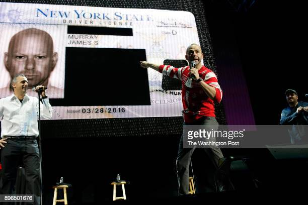 The comedians of Impractical Jokers Joseph Gatto James Murray and Brian Quinn perform at the Allstate Arena in Rosemont Illinois December 15 2017...