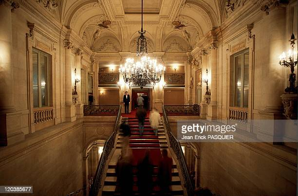 The Comedie Francaise in Paris France in 1990 The main stairway