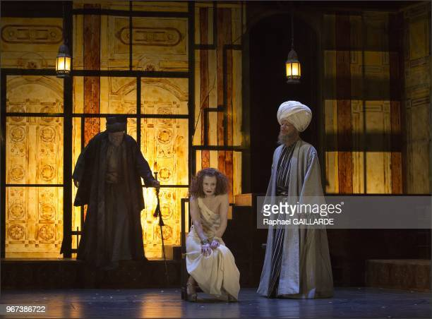 The Comedie-Francaise performs 'Rituel pour une Metamorphose' of Saadallah Wannous, translated by Rania Samara, directed by Sulayman Al-Bassam, stony...