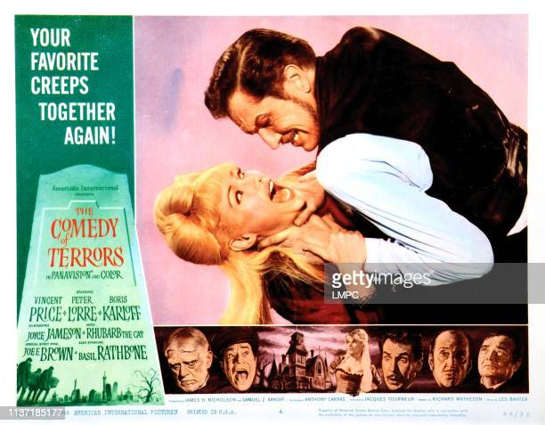 The Comedy Of Terrors poster Joyce Jameson Vincent Price 1963