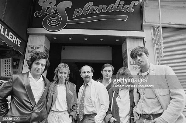 The comedy theatrical troupe L'Equipe du Splendid stands outside Le Splendid theater The popular comedy group has just moved to a new location The...
