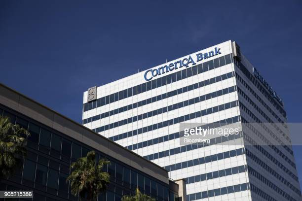 The Comerica Bank office building stands in Sherman Oaks California US on Wednesday Jan 10 2018 Comerica Bank is scheduled to release earnings...