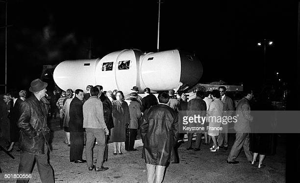 The Commander Jacques Yves Cousteau's Submarine House On Port Before Loading Aboard Italian Boat Rosaldo And Departure For The Red Sea In Egypt in...