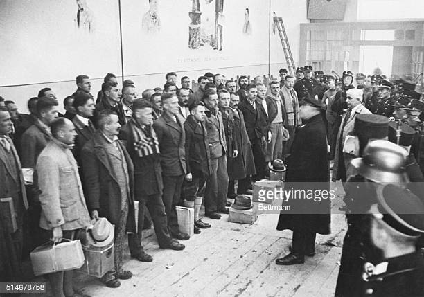 The commander of the Dachau Concentration Camp releases 600 prisoners for good behavior in 1933