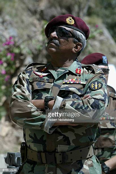 The commanding officer of Pakistan's elite Special Services Group Major General Faisal Amir Alvi watches as his special forces go through an urban...