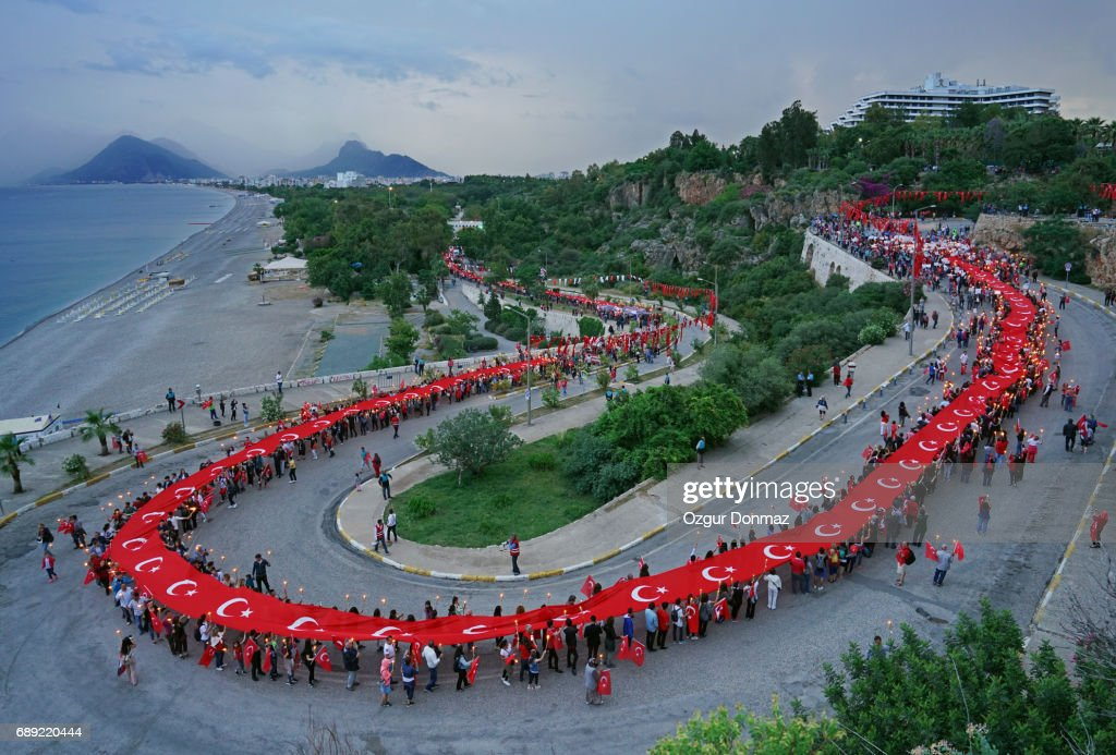 The Commemoration of Atatürk, Youth and Sports Day in Turkey : Stock Photo