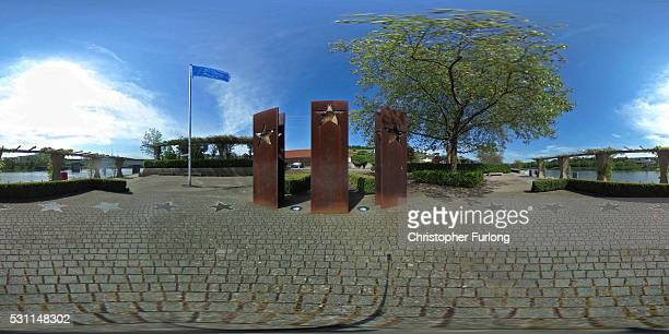 The commemorative sculpture at the dock where the 1985 European Schengen Agreement was signed on May 11 2016 in Schengen Luxembourg The Schengen...
