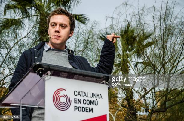 The commentator and writer Owen Jones during his speech to support the candidacy of Xavier domènech for Catalunya ComuPodemEquidistant from the...