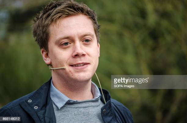 The commentator and writer Owen Jones during his speech to support the candidacy of Xavier domènech for Catalunya ComuPodem Equidistant from the...
