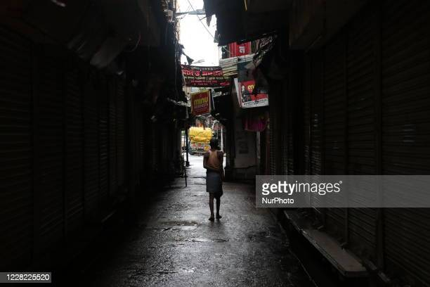 The commercial nucleus of Kolkata and one of the largest wholesale markets in AsiaBurrabazar Market wears a deserted view during the biweekly...
