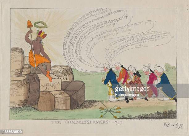 The Commissioners, April 1, 1778. [Lord Admiral Richard Howe, General Sir William Howe, Lord Frederick Carlisle, William Eden and Commodore George...