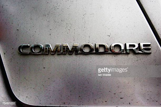 The Commodore logo is displayed on the wheel of a late model Holden March 5 2007 in Sydney Australia The carmaker owned by General Motors has...