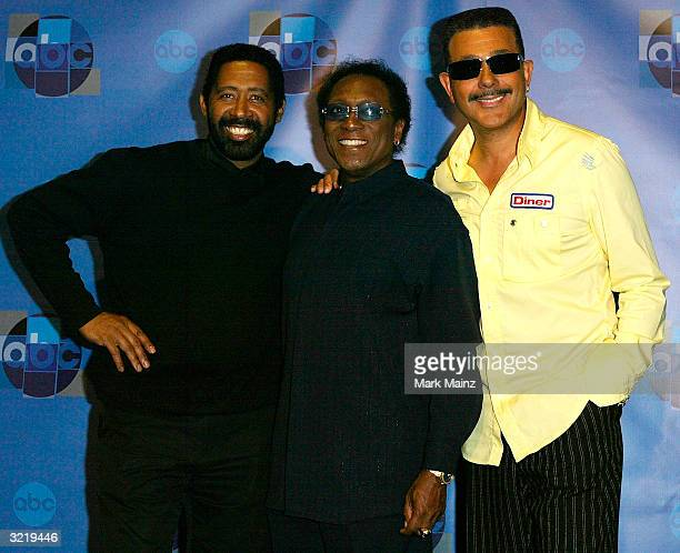 The Commodores attends the press room for Motown 45 a celebration of music that established the record label at the Shrine Auditorium April 4 2004 in...