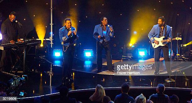 The Commodores perform at Motown 45 Anniversary Celebration Show held at the Shrine Auditorium April 4 2004 in Los Angeles California