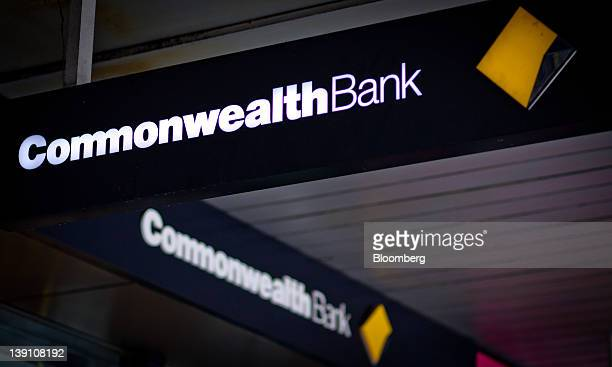 The Commonwealth Bank of Australia logo is displayed at a bank branch in Sydney Australia on Thursday Feb 16 2012 Commonwealth the nation's largest...