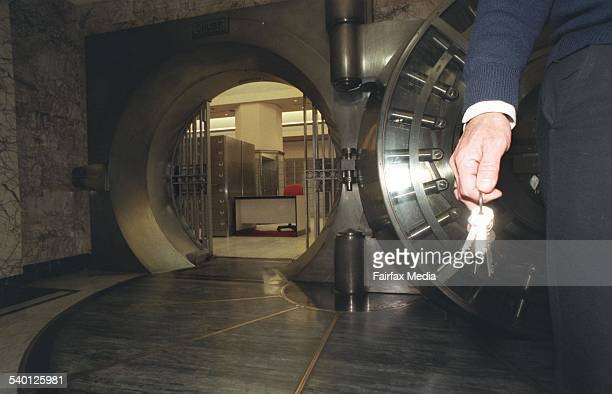 The Commonwealth Bank Vault at Martin Place 29 July 1997 AFR Picture by MICHELE MOSSOP