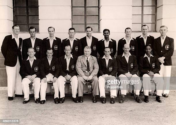 The Commonwealth cricket team pictured in Madras 16th February 1950 Back row Harry Lambert Ray Smith George Dawkes WLangdon Des Fitzmaurice JKHolt...