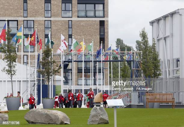 The Commonwealth Games athletes' village in Glasgow as sickness and diarrhoea thought to be the norovirus bug breaks out at the village