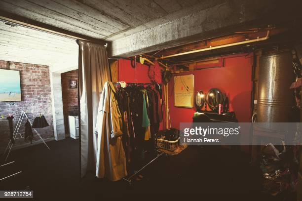 The communal dressing room for the ladies where various changes of clothes lingerie and shoes are provided ahead of bookings with clients at The Bach...