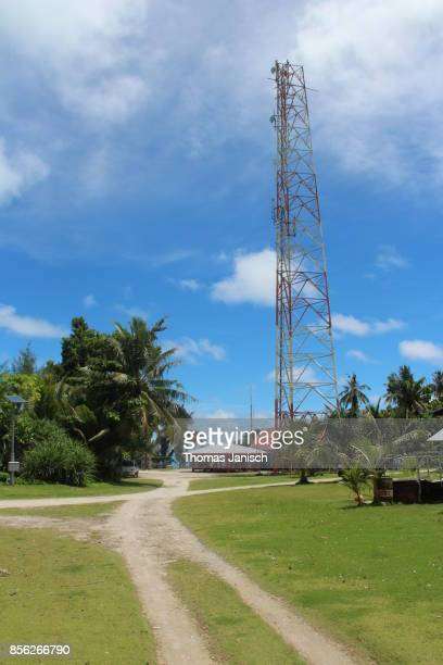 The communications tower at Kayangel Atoll, Palau