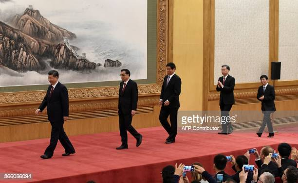 The Communist Party of China's new Politburo Standing Committee the nation's top decisionmaking body Chinese President Xi Jinping Premier Li Keqiang...