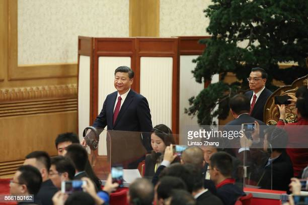 The Communist Party of China's new Politburo Standing Committee, the nation's top decision-making body Chinese President Xi Jinping and Premier Li...