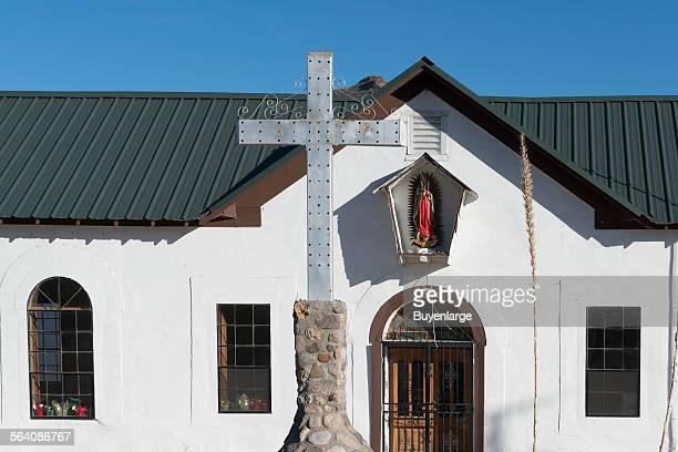 The community church in tiny Shafter an unincorporated community in Presidio County Texas near the Rio Grande River