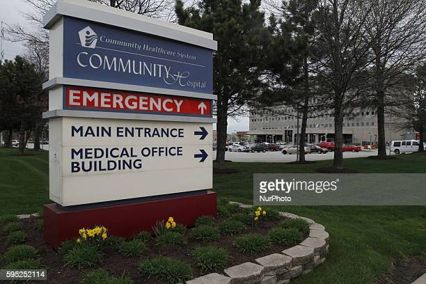 The Community Hospital in Munster Indiana where the first confirmed US case of MERS CoV was detected and where the patient stays in isolation in...