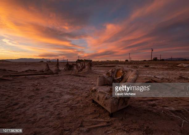 The community of Bombay Beach which was devastated by flooding after two hurricanes raised the level of the Salton Sea in the 1970s has become a...