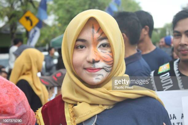 The community of tiger lovers in Aceh commemorates Global Tiger Day They are campaigning on the issue of Sumatran tiger conservation
