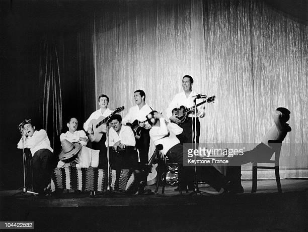 The Compagnons De La Chanson On Stage In 1970
