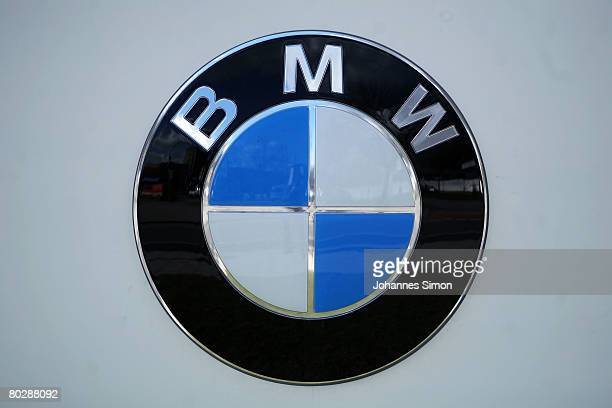 The company emblem of car producer BMW is seen outside BMW World after the announcements of the company results 2007 on March 18, 2008 in Munich,...