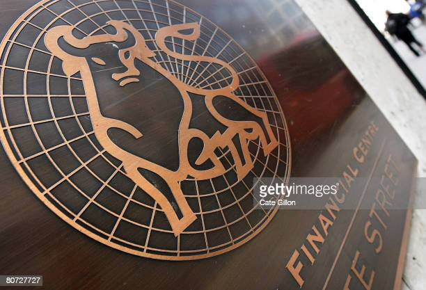 The company logo is displayed outside the British headquarters of Merril Lynch on April 17 2008 in London England The American investment firm has...