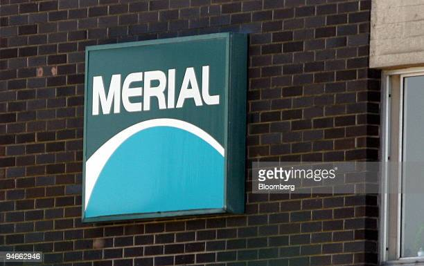 The Company logo of Merial Animal Health ltd is seen on their premises at Pirbright Surrey UK on Sunday Aug 2007 The UK government extended its...